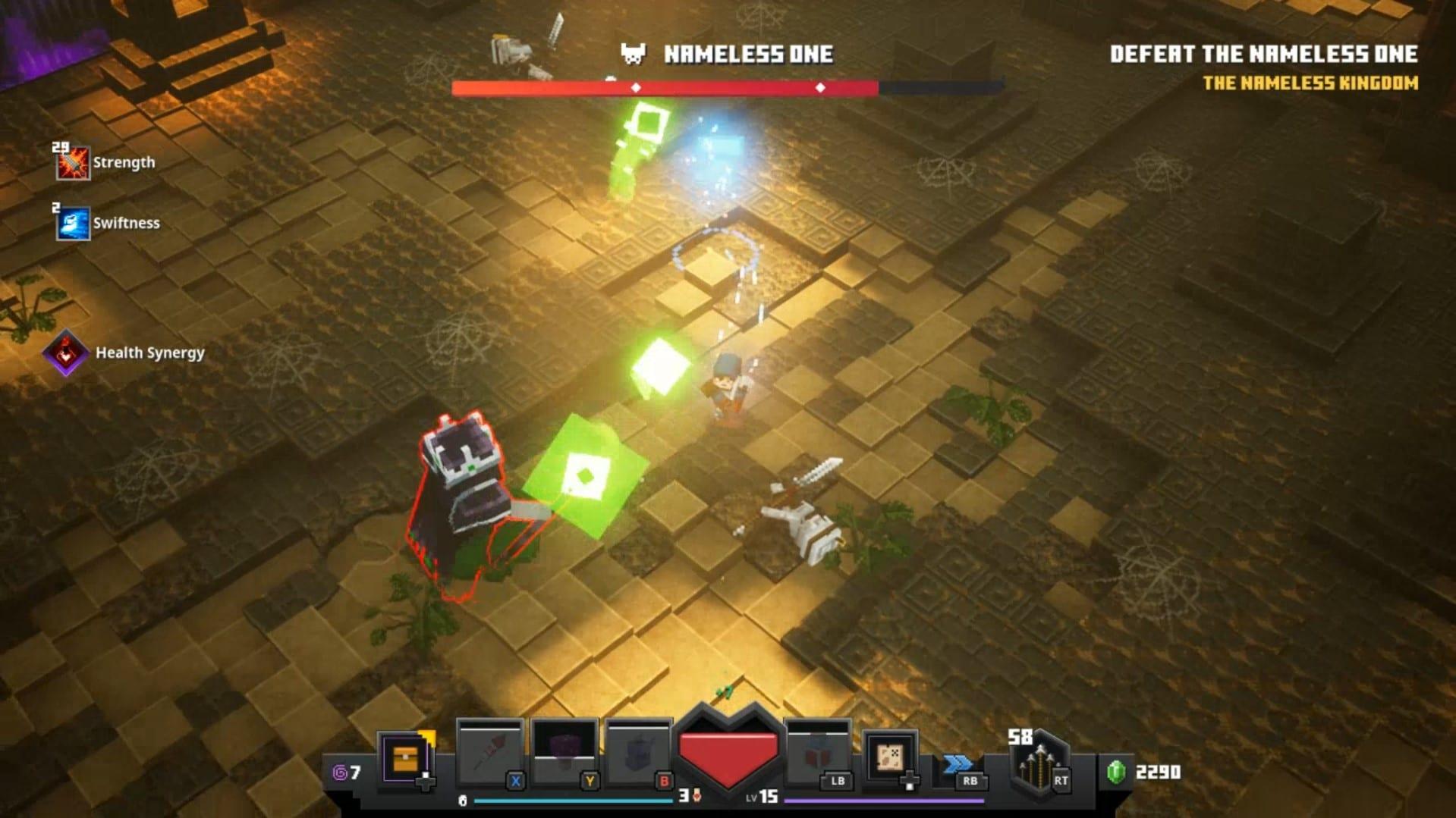 mazmorras de minecraft sin nombre una pelea de jefe