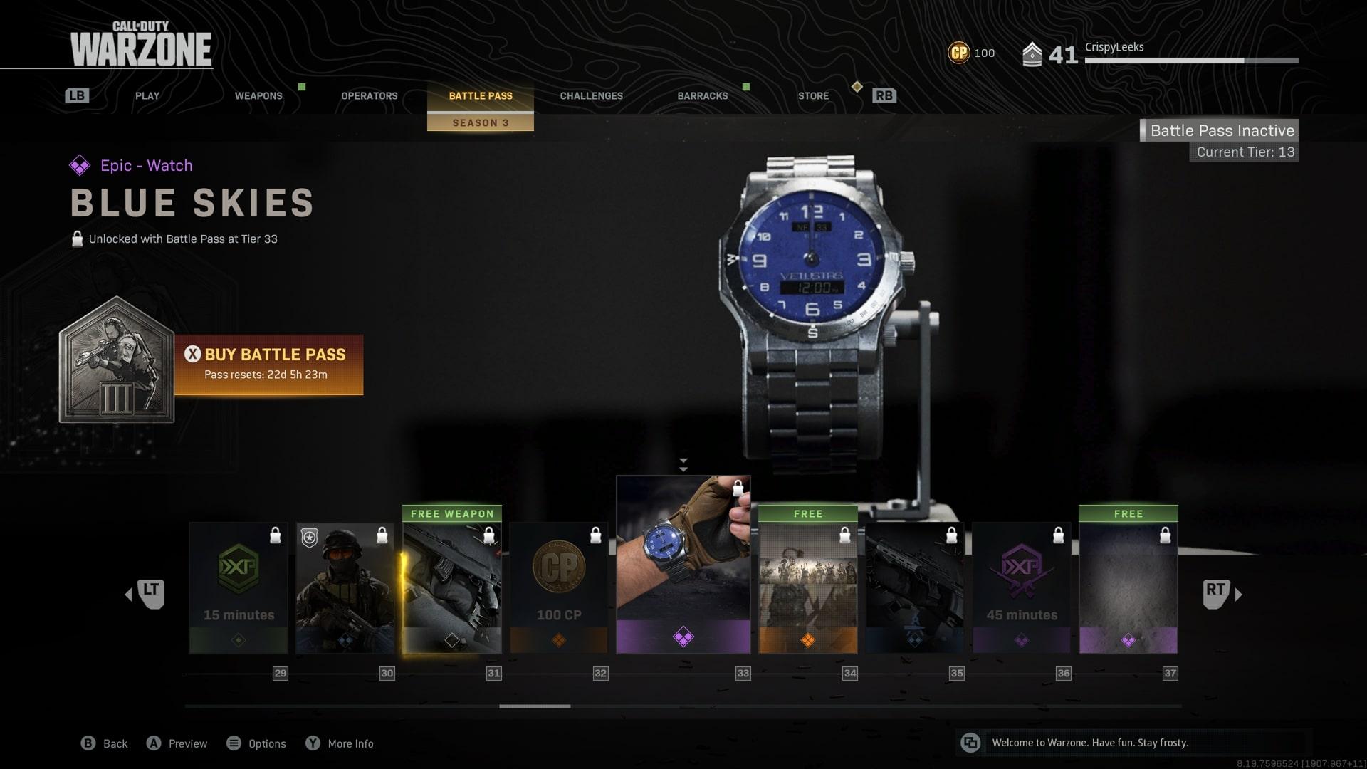 como conseguir un reloj en la zona de guerra