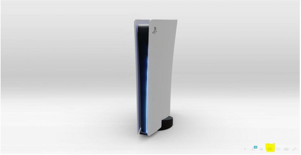 Diseño de PS5 en la sala de estar