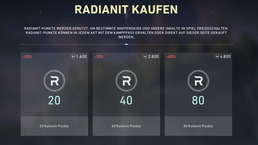 Comprar moneda valorativa radianit