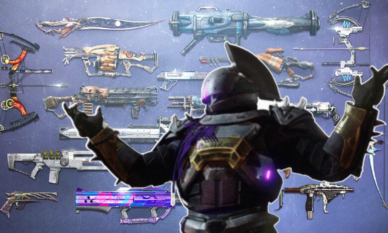 17 armas raras que solo los mayores coleccionistas tienen en Destiny 2