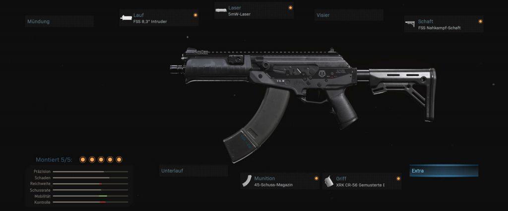 bacalao guerra moderna zona de guerra arma cr-56 amax setup cqc