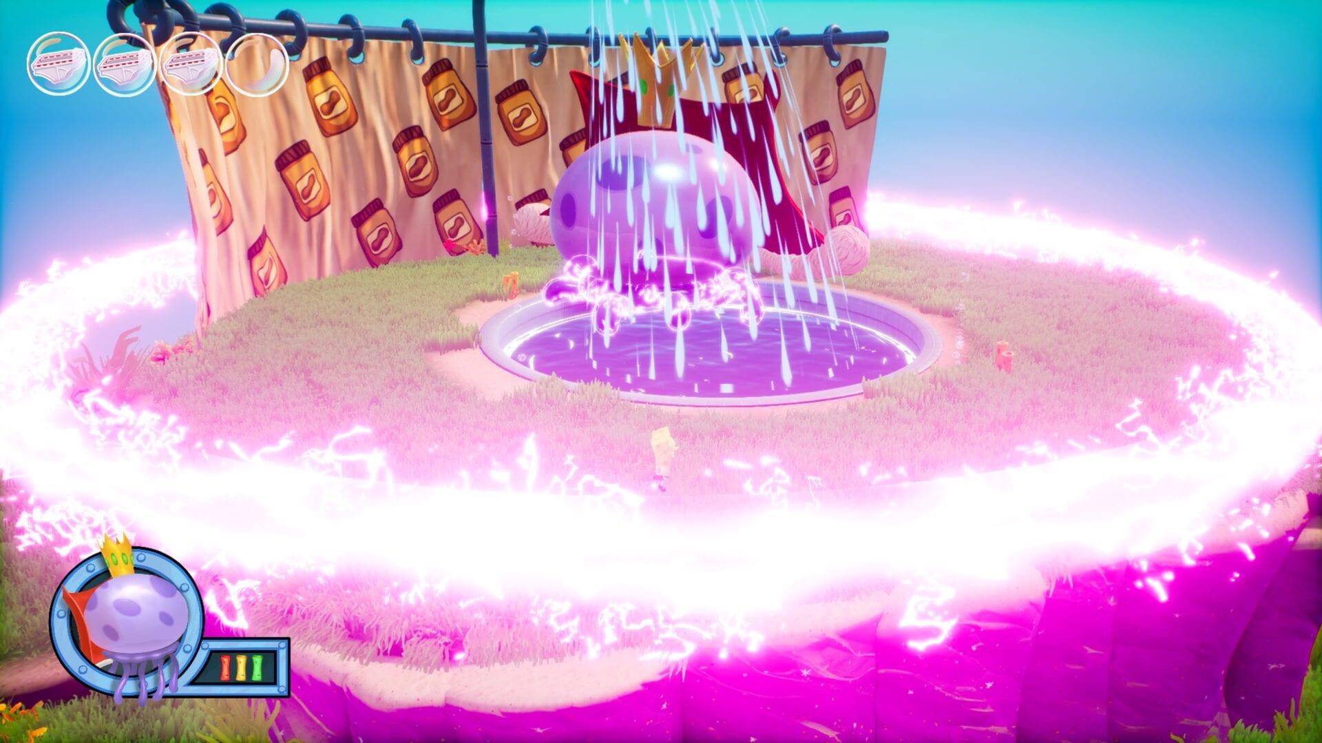 batalla por la parte inferior del bikini, la medusa real