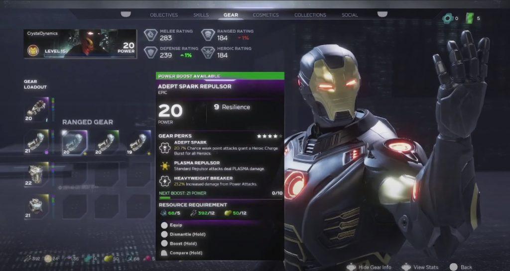 Vengadores de Marvel Ironman botín 2