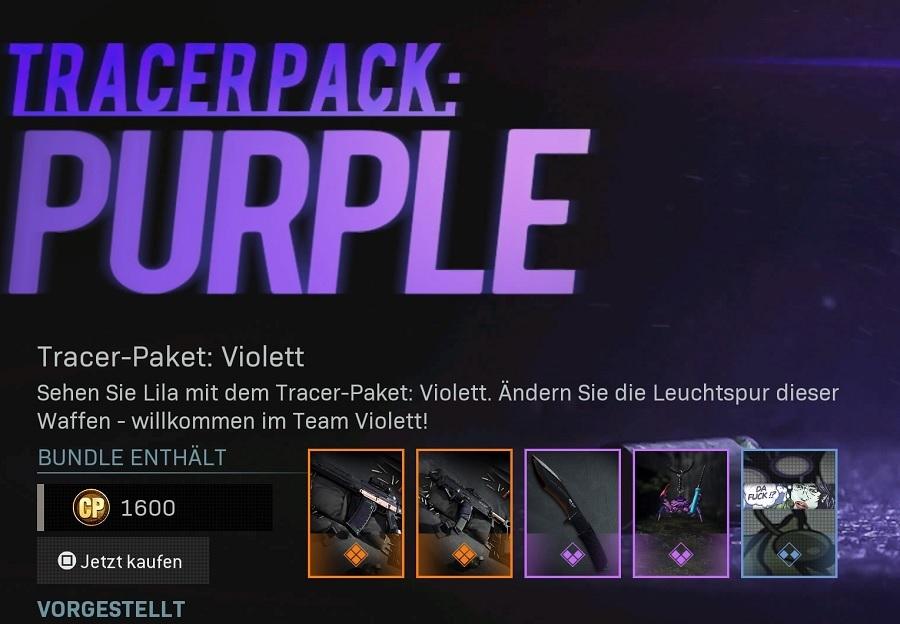 Tracer Paket Shop CoD Warzone Modern Warfare