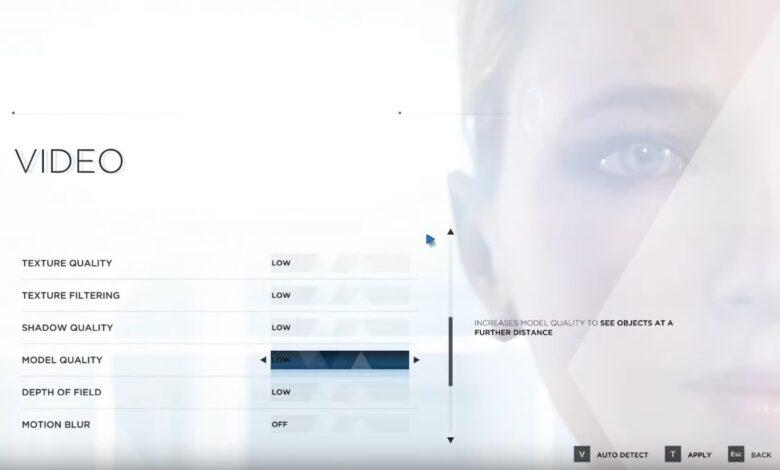 Detroit Become Human: la mejor configuración de gráficos
