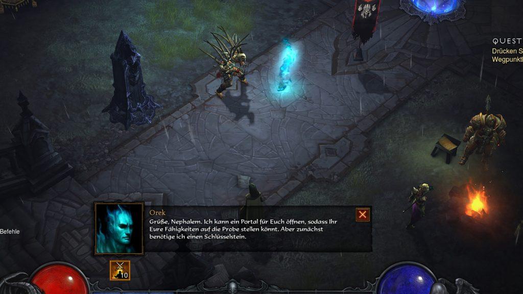 NPC de entretenimiento de Diablo 3