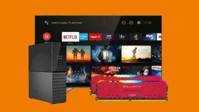 Kit de RAM con RGB, TV QLED, HDD externo y más reducido en Saturn