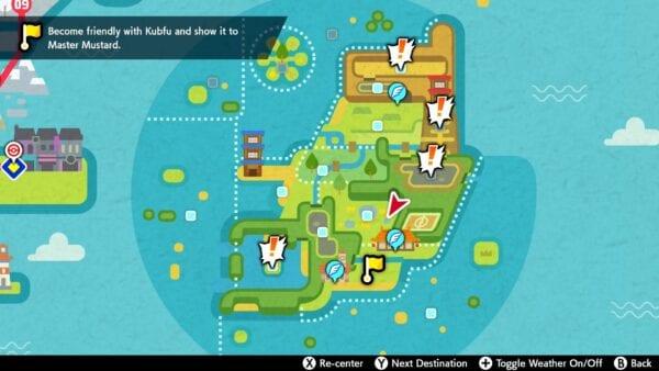 mapa de la isla de armadura