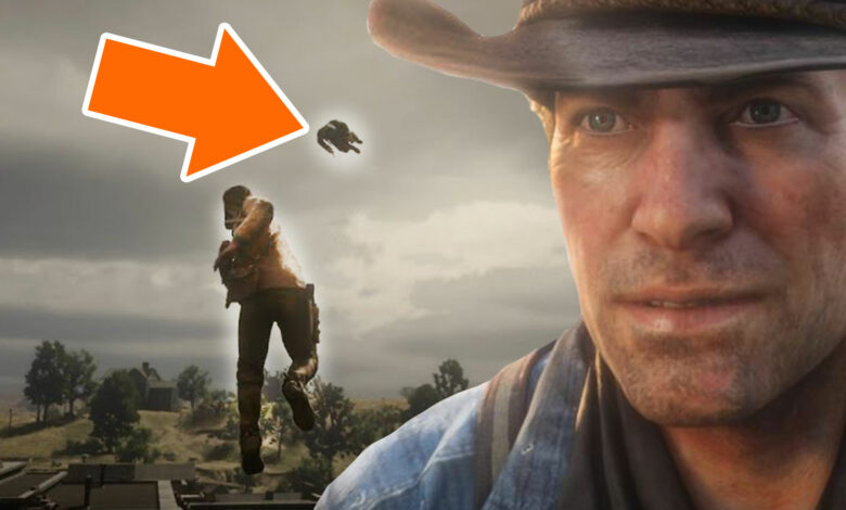 """RDR 2: Mod convierte a Arthur en un """"superhéroe"""" volador que arroja policías"""