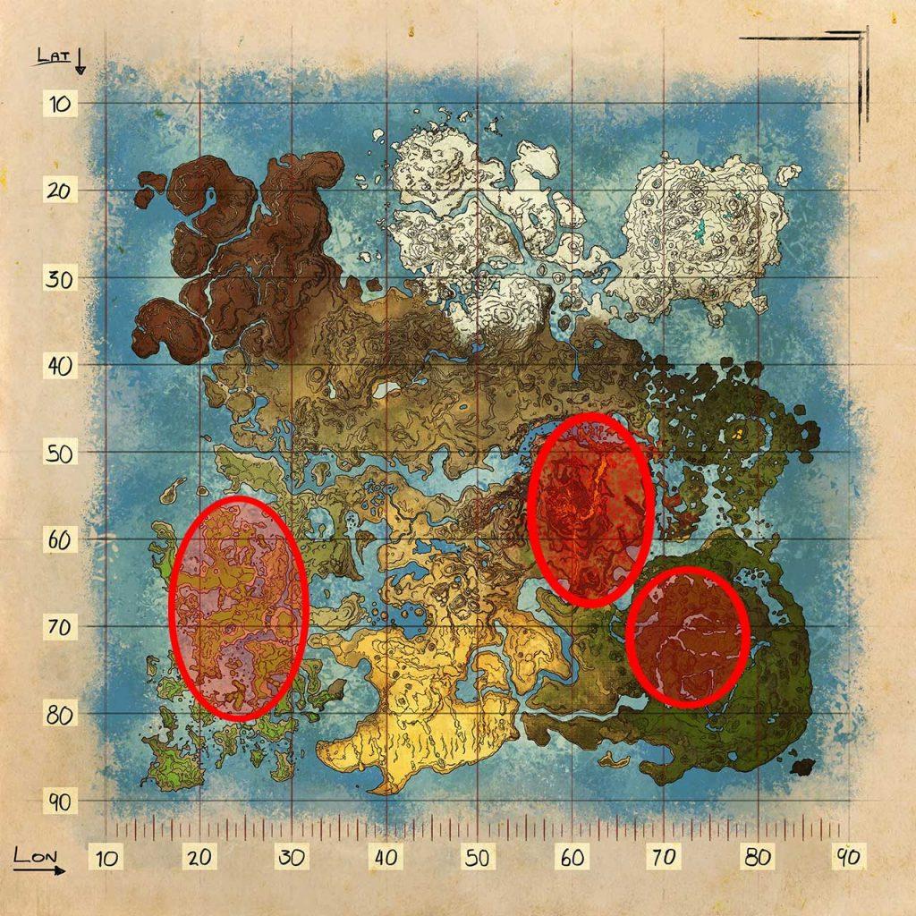 Mapa de Crystal Isles Ubicación de desove de Tropeo