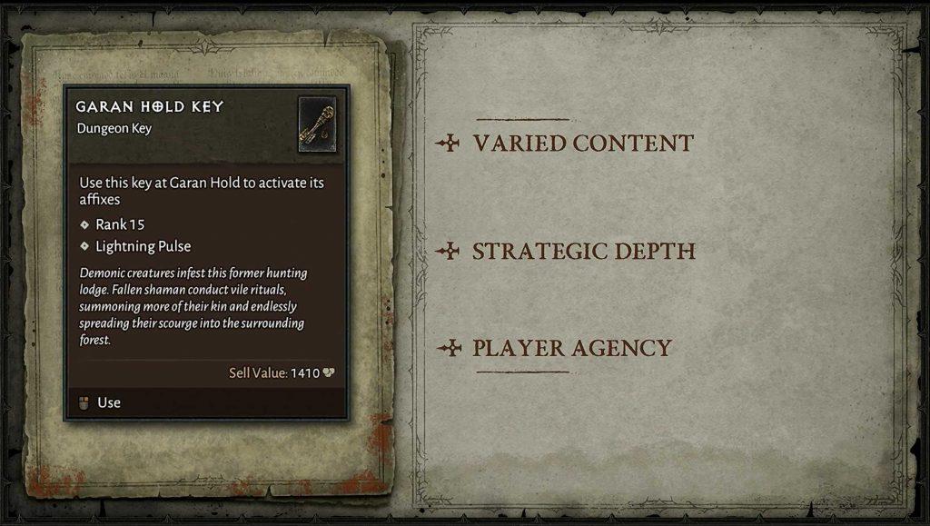 Clave de la mazmorra de Diablo 4