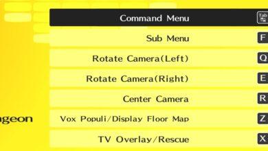 Persona 4 Golden PC: controles de teclado y combinaciones de teclas