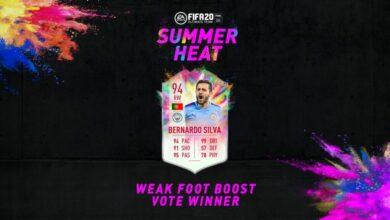 FIFA 20: SBC Bernardo Silva Summer Heat - Un nuevo Pink Creation Challenge está disponible