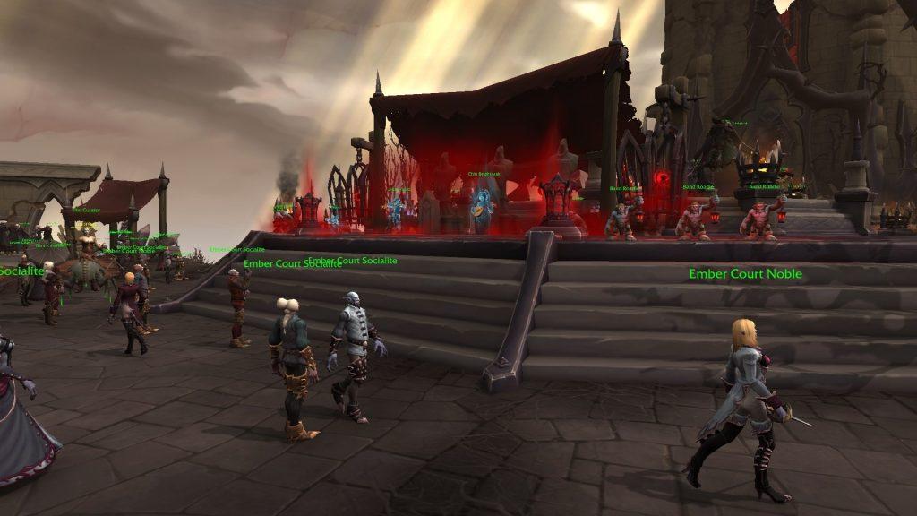 WoW Shadowlands Venthyr Party Asistentes a la fiesta