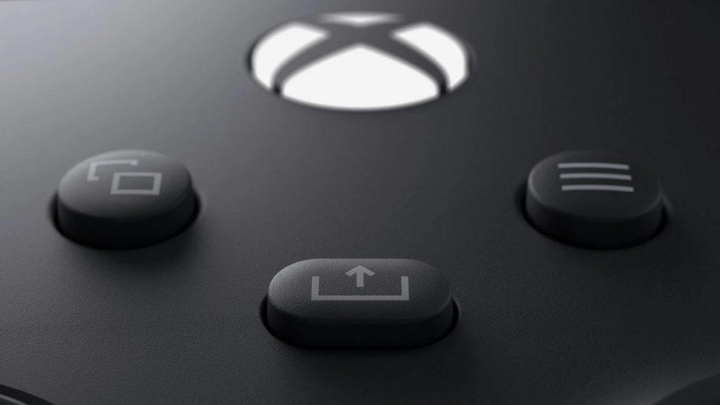 Controlador Xbox Series X con botón de compartir