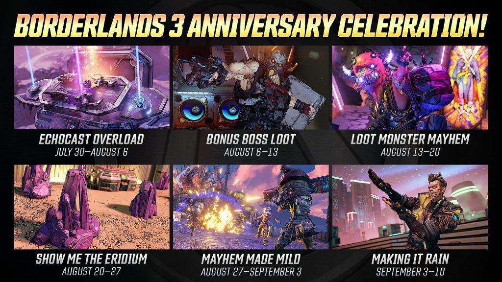 Borderlands 3 eventos