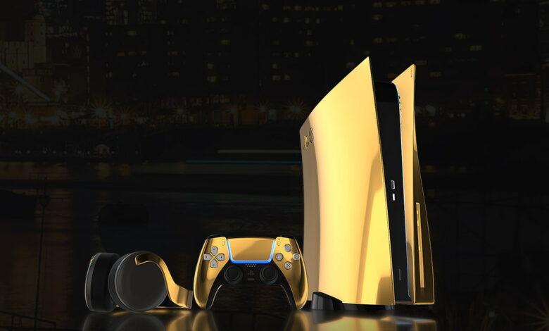 La PS5 de oro de 24 quilates proviene de una compañía que vende teléfonos celulares por € 5000