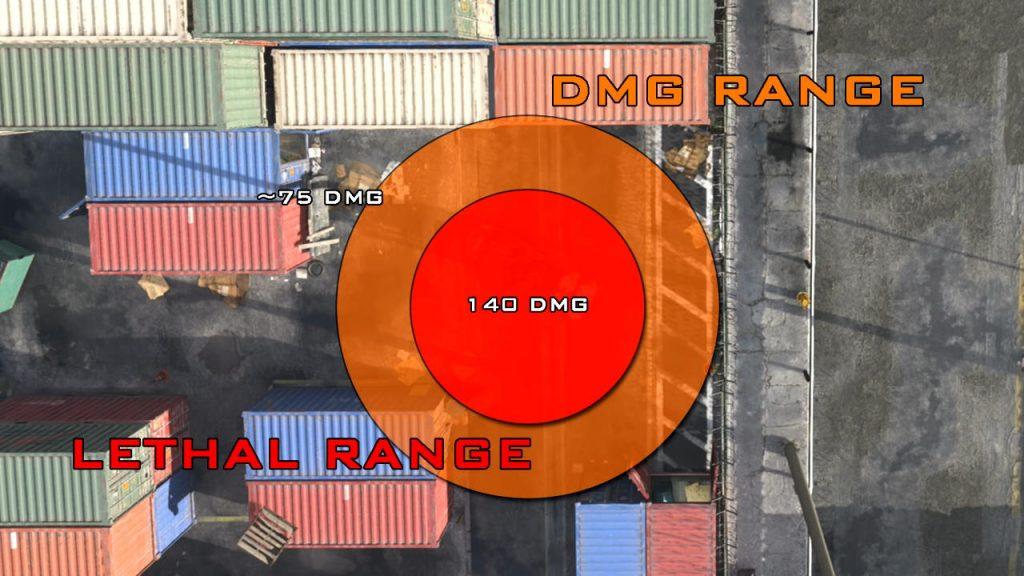 bacalao guerra moderna zona de guerra granada de fragmentación área efectiva semtex