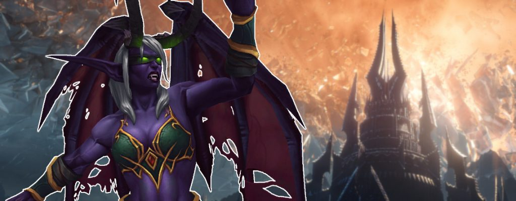 WoW Demon Hunter Casting Shadowlands título 1140x445