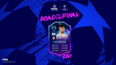 FIFA 20: SBC Federico Valverde Camino a la final