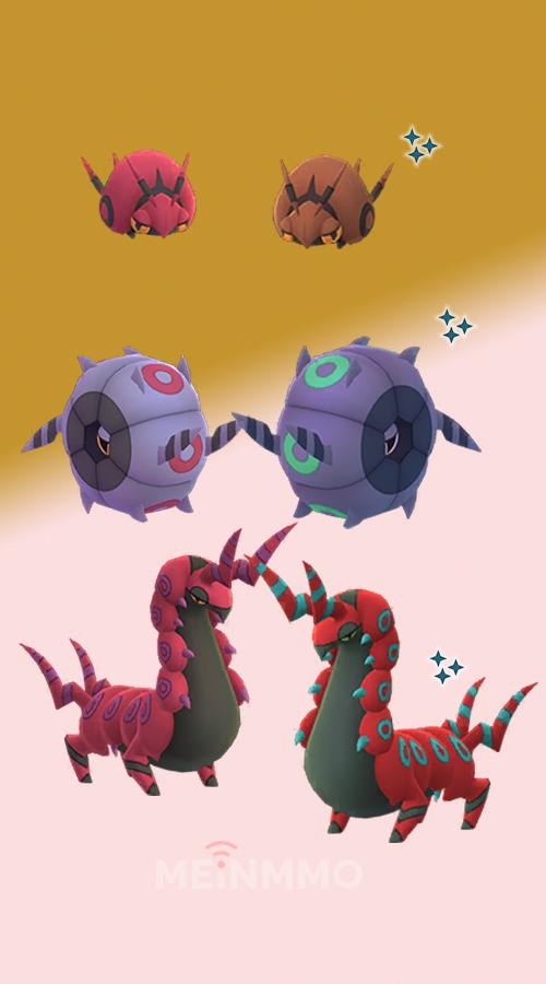 Familia de Pokémon GO Toxiped Shiny