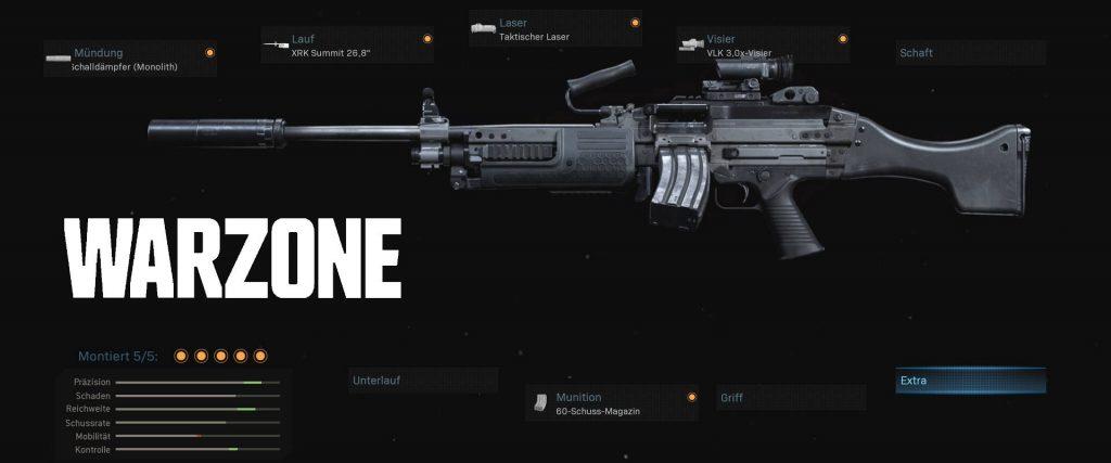 configuración del arma de la zona de guerra del bacalao bruen mk9