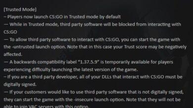 Counter-Strike: Global Offensive (CSGO): cómo desactivar el modo de confianza