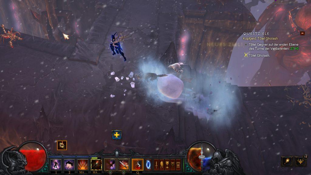 Bola de nieve temática de temporada de Diablo 3