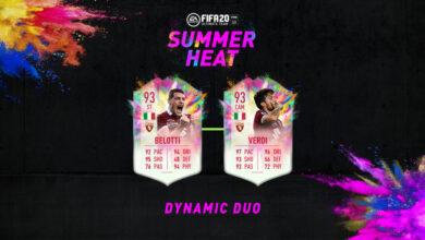FIFA 20: SBC Andrea Belotti y Simone Verdi Summer Heat - Par de ases