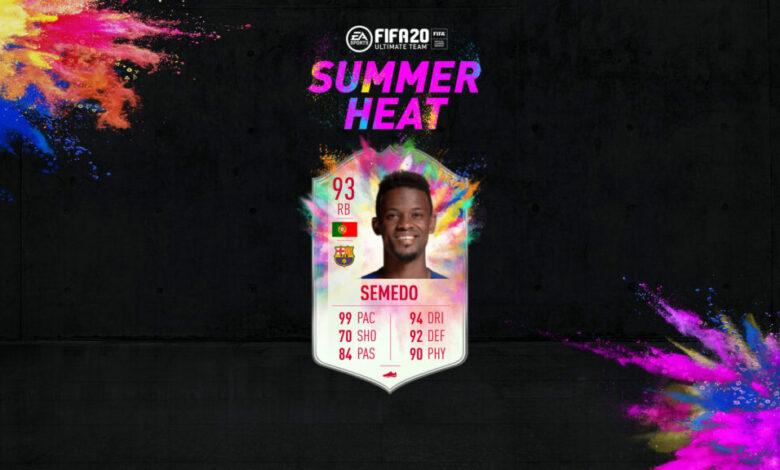 FIFA 20: objetivos de Nelson Semedo Summer Heat