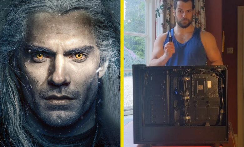 La estrella de Witcher Henry Cavill construye una PC, esperamos que pronto juegue WoW en Twitch