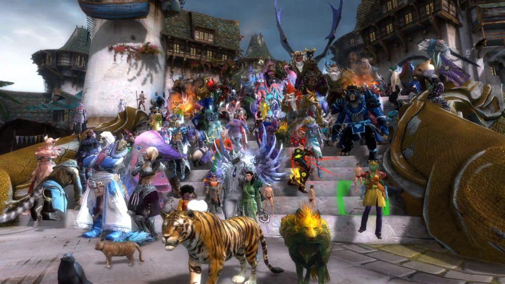 Escalera del desfile del orgullo Tyria