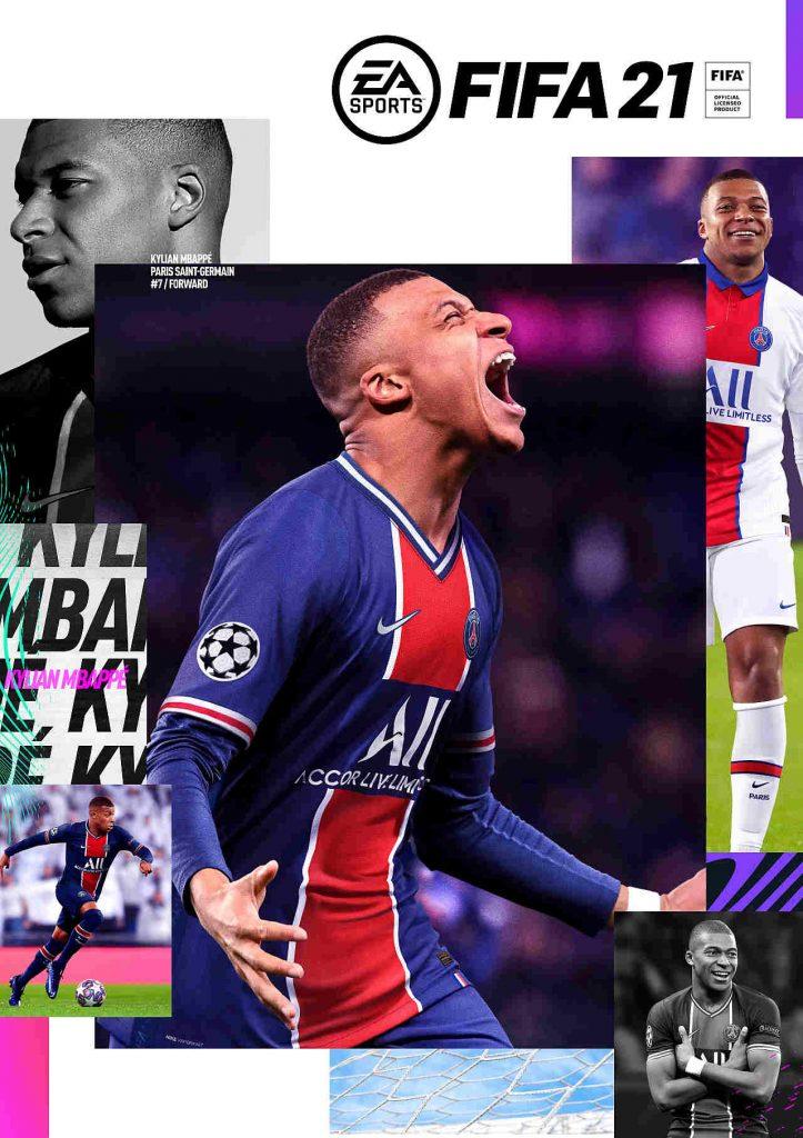 Edición estándar de portada de FIFA 21