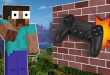 Minecraft: Apuesta, ¿hubieras tirado tu controlador aquí?