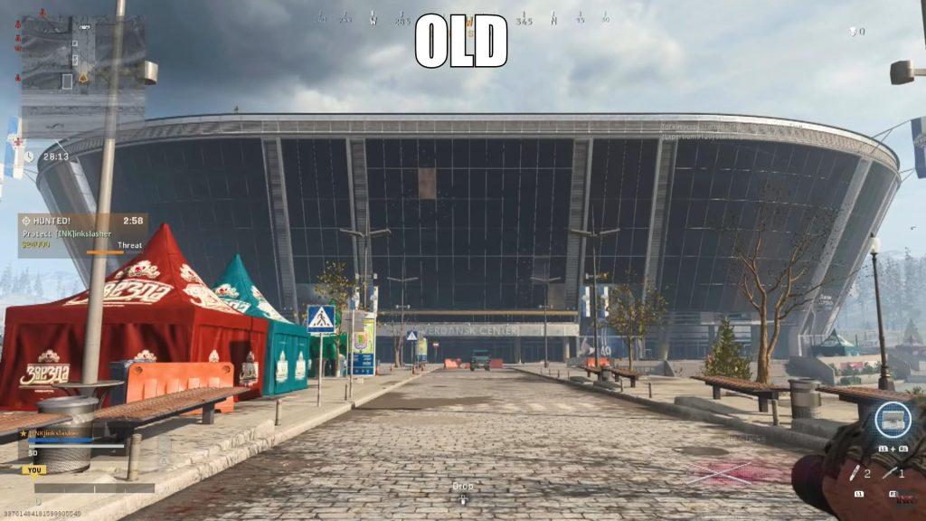Bacalao warzone estadio en el juego comparación teaser