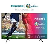 Hisense 75AE7000F Televisor de 190 cm (75 pulgadas) (4K Ultra HD, HDR, sintonizador triple DVB-C / S / S2 / T / T2, Smart-TV, sin marco, Bluetooth, Alexa, pies ajustables)