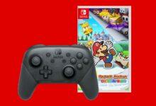 Paper Mario con los descuentos del controlador Switch Pro en MediaMarkt