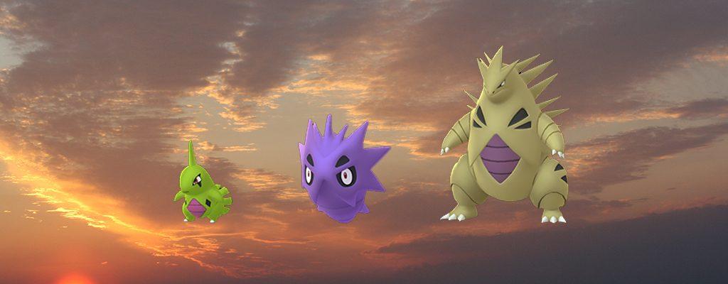 Pokémon GO Shiny Larvitar family