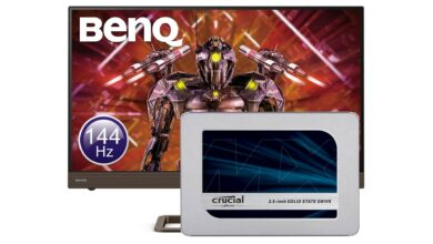 SSD de Crucial, monitor de juegos de BenQ y más reducido en Amazon