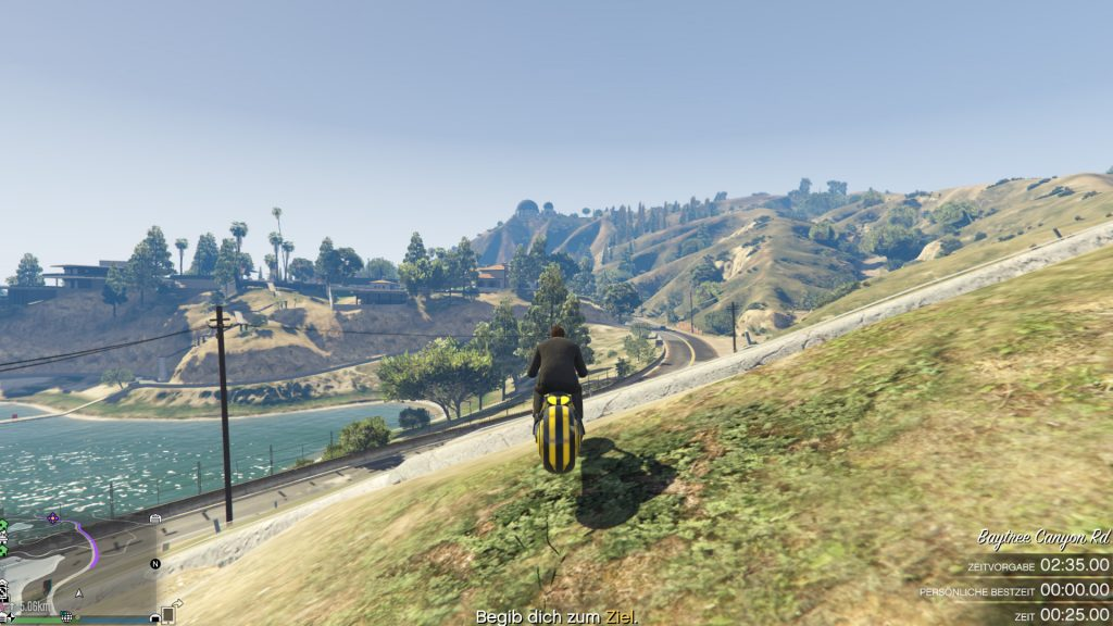 GTA Online Vinewood Hills Race Hill Land