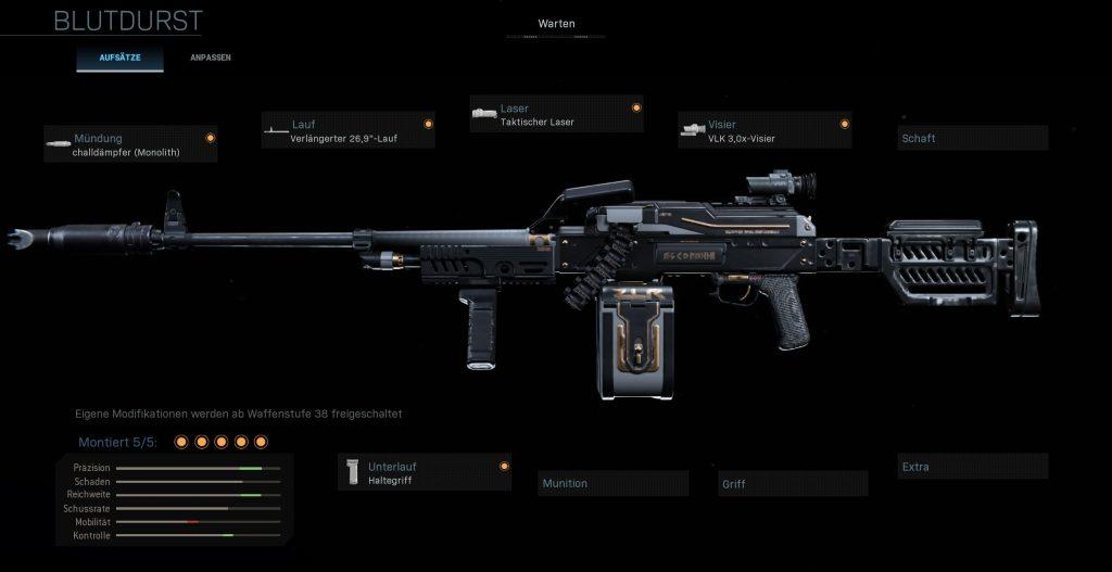 Call fo Duty Warzone Nickmercs PKM Construye Bloodthirst