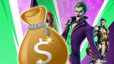 Fortnite quiere ganar mucho dinero con un paquete de aspectos para el Joker 2020