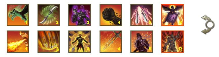 Barra de habilidades de ESO dos armas dragon knight
