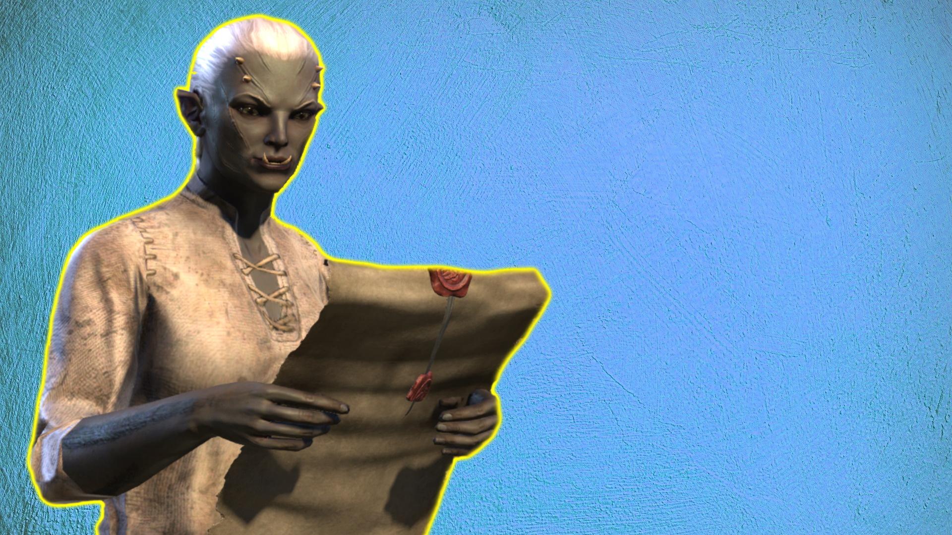 ESO Ork lee la carta de construcción