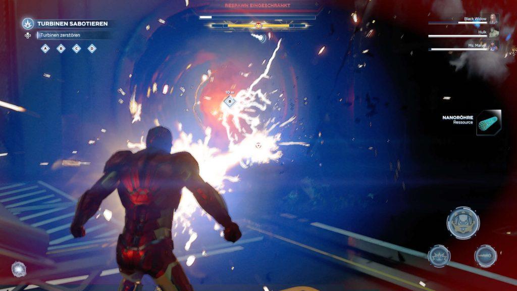 """Marvels-Avengers-helden-iron-man-special-attack-action.jpg """"class ="""" lazy lazy-hidden wp-image-538883 """"srcset ="""" https://images.mein-mmo.de/medien/2020/ 08 / Marvels-Avengers-helden-iron-man-special-attack-action-1024x576.jpg 1024w, https://images.mein-mmo.de/medien/2020/08/Marvels-Avengers-helden-iron-man -acción-de-ataque-espacial-300x169.jpg 300w, https://images.mein-mmo.de/medien/2020/08/Marvels-Avengers-helden-iron-man-spezial-angriff-action-150x84.jpg 150w , https://images.mein-mmo.de/medien/2020/08/Marvels-Avengers-helden-iron-man-spezial-angriff-action-768x432.jpg 768w, https: //images.mein-mmo. de / medien / 2020/08 / Marvels-Avengers-helden-iron-man-special-attack-action-1536x864.jpg 1536w, https://images.mein-mmo.de/medien/2020/08/Marvels-Avengers -helden-iron-man-special-attack-action-780x438.jpg 780w, https://images.mein-mmo.de/medien/2020/08/Marvels-Avengers-helden-iron-man-spezial-angriff- action.jpg 1920w """"data-lazy-size ="""" (max-width: 1024px) 100vw, 1024px """"> La perspectiva de la cámara hace vi el off.      <h3><strong>Las misiones secundarias de los héroes son particularmente valiosas.</strong></h3> <p><strong>De esto se trata todo:</strong> Cada vez que desbloqueas un nuevo héroe en la campaña, puedes completar una misión específica para él o ella. Se trata de misiones trepidantes que se adaptan directamente al héroe.</p> <p>Allí podrás conocer mejor al héroe y experimentar una historia personal y original siguiendo a un imitador como Thor o infiltrándote en una base de AIM como Black Widow.</p> <p>    <img data-lazy-type="""