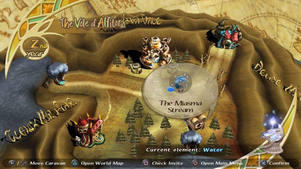 sección del mapa de las crónicas de cristal