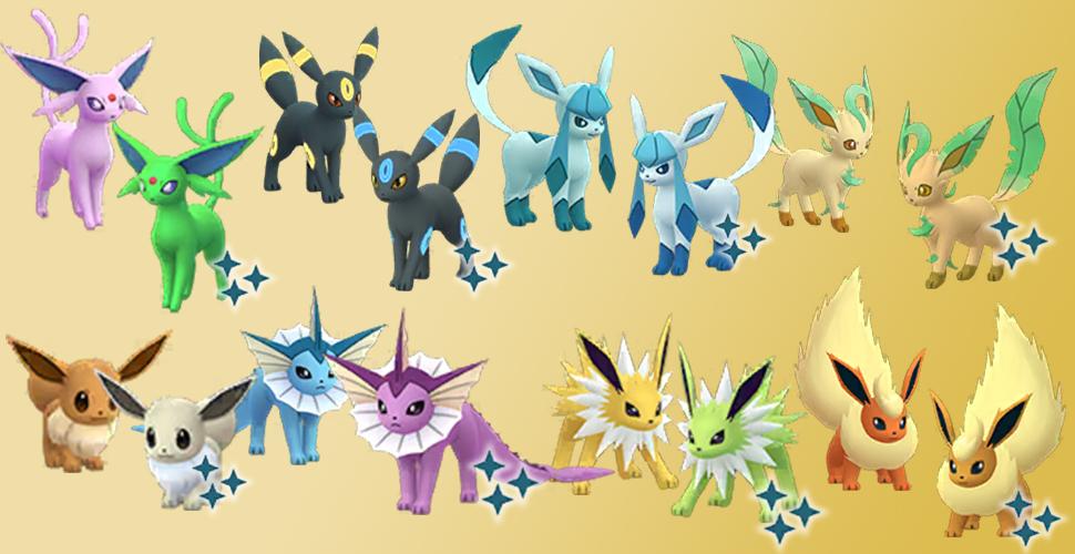 Pokémon GO Eevee Shiny family nuevo