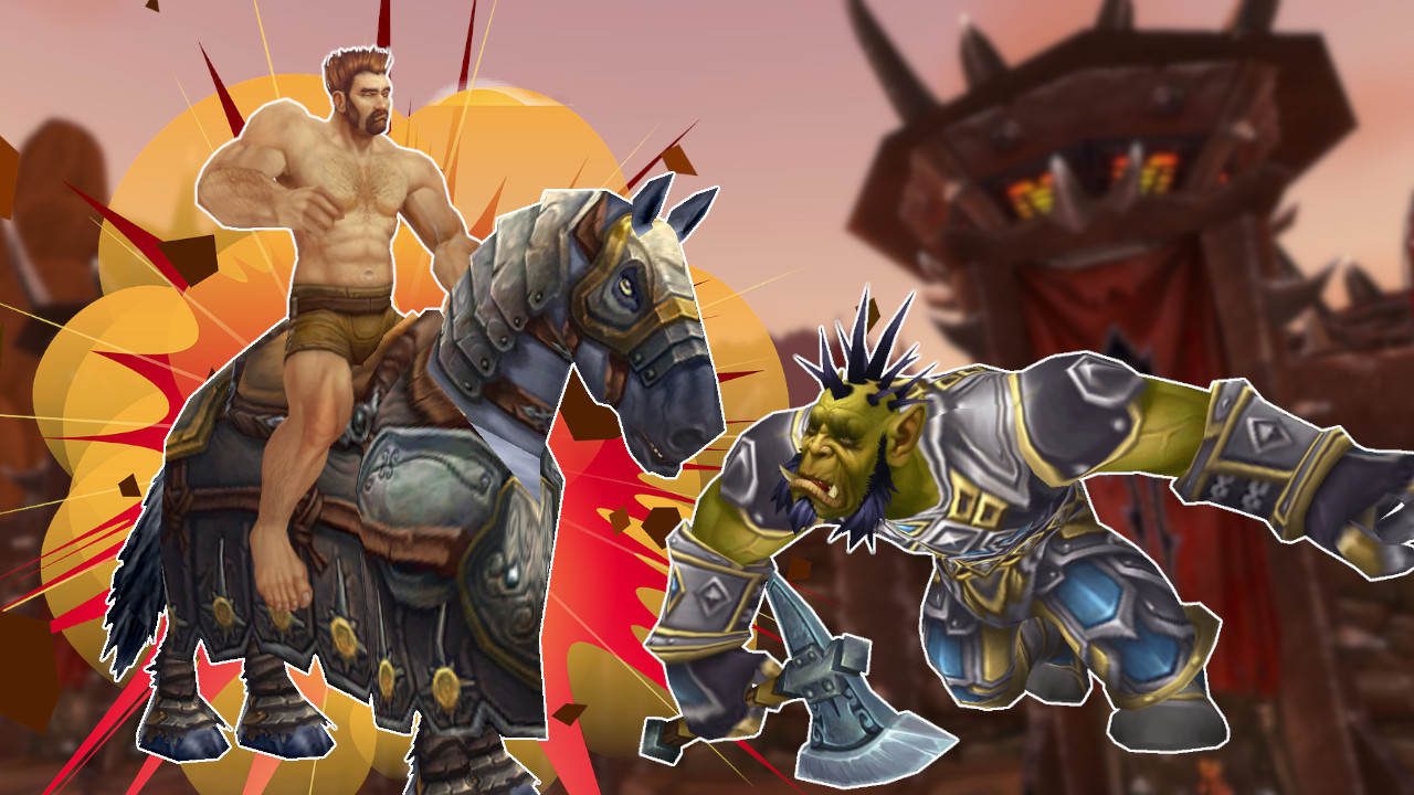 WoW Naked Paladin Mount Death Orc título título 1280x720