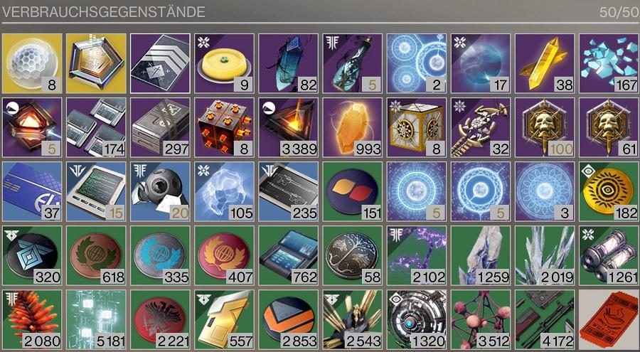 Inventario completo de Destiny 2